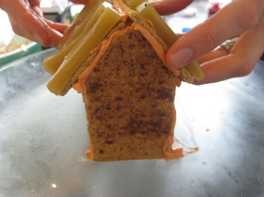haunted house, graham cracker house, Halloween, how to