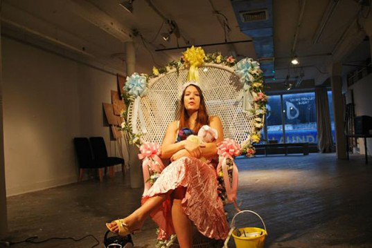 Marni Kotak, Microscope Gallery, Bushwick, doula, The Birth of Baby X, birthing pool