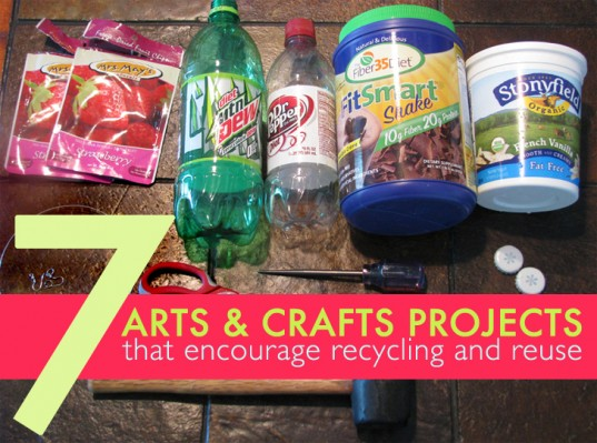 7 arts and crafts projects for kids that encourage for Recycle project ideas