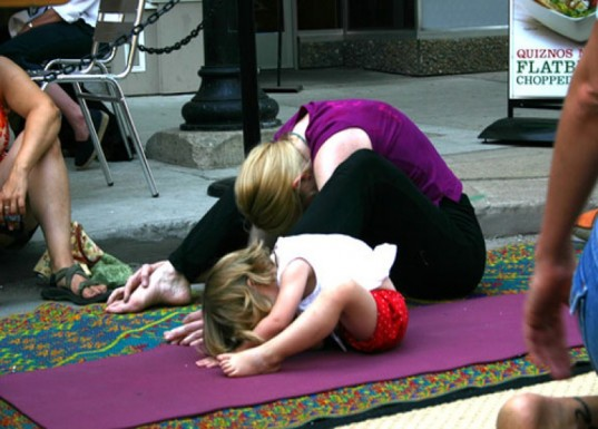 yoga, parenting, winter workouts