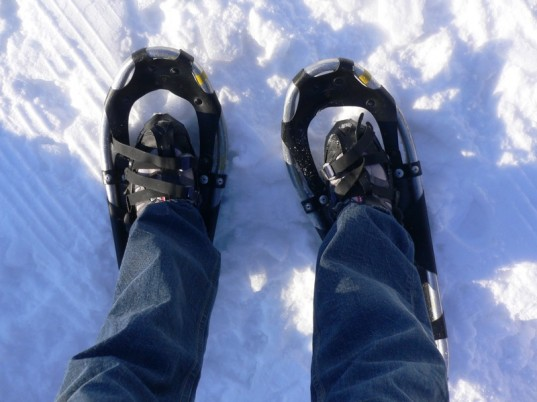 parenting, snowshoeing, winter workouts