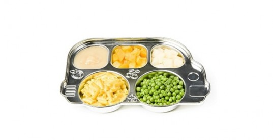 plate, kids' plate, dinner plate, dinner tray, lunch plate, lunch, peas, mac-n-cheese