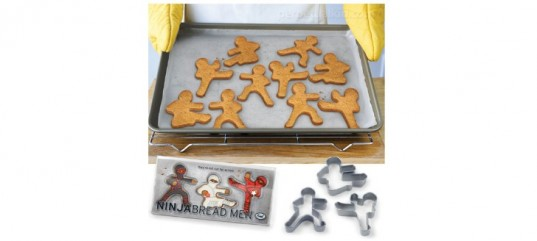 ninja, cookies, ginger bread man, sandwich cutters, cooking