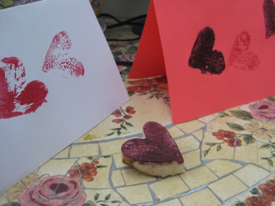 eco-friendly family valentine's day, DIY cards