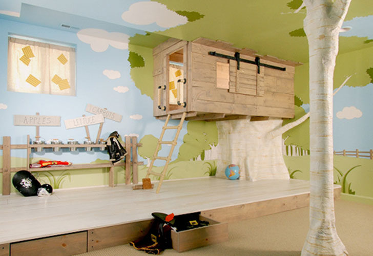 Lofted Treehouse Bed