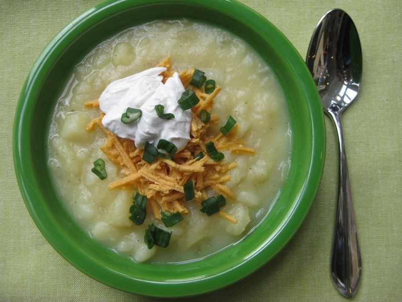 Creamy Vegan Baked Potato Soup Recipe Inhabitots