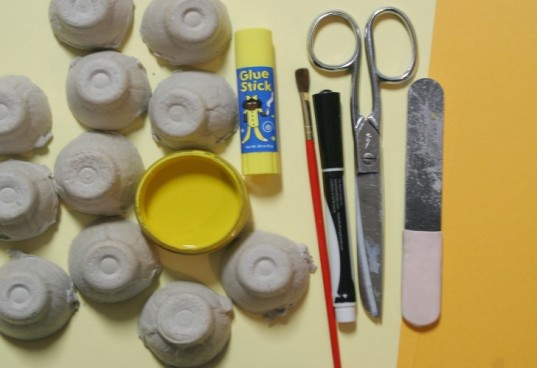 supplies for recycled duck craft, what you need to make recycled chick, eco chick supplies