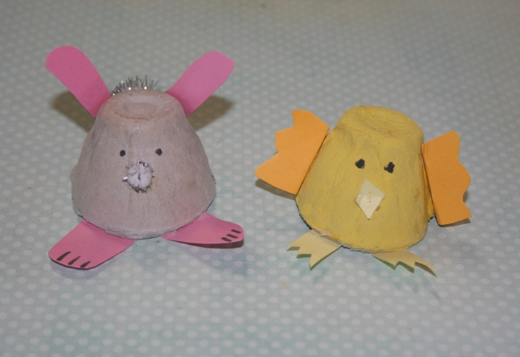 How To Make Recycled Egg Carton Bunnies And Chicks Inhabitots