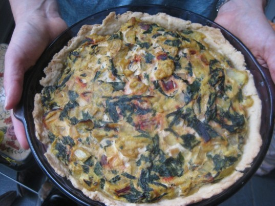 swiss chard, swiss chard quiche, guide to greens, green vegetables, vegan cooking