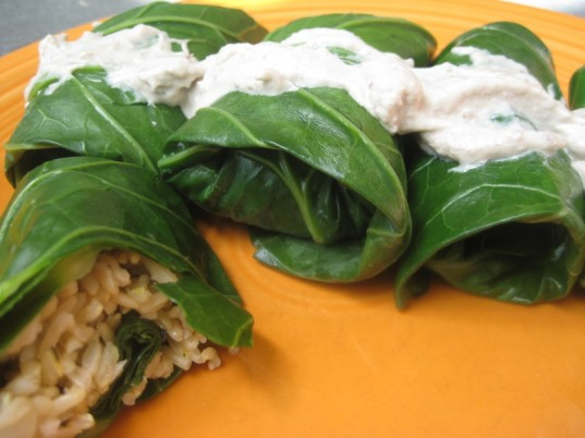 guide to greens, vegan cooking, collard greens, collard green dolmades, healthy recipe