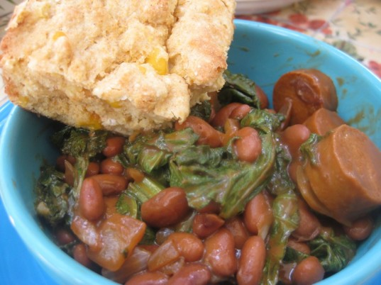 vegan cooking, mustard greens, guide to greens, BBQ mustard greens and beans