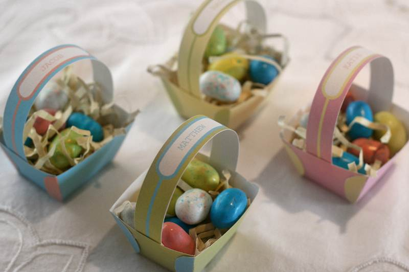 Mini easter baskets inhabitots negle Gallery