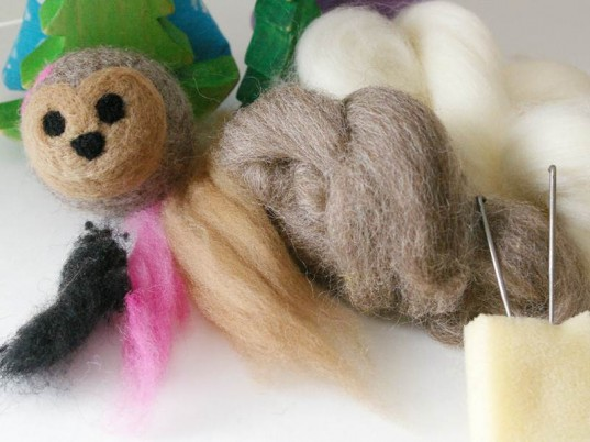 wool felt kit, wool felt art, make wool felt ball, wool felt ball, wet needle felting, wool felt crafts, wet needle craft, wool animal ball, wool ball, learn wool felting, wool felting needles, wool animals