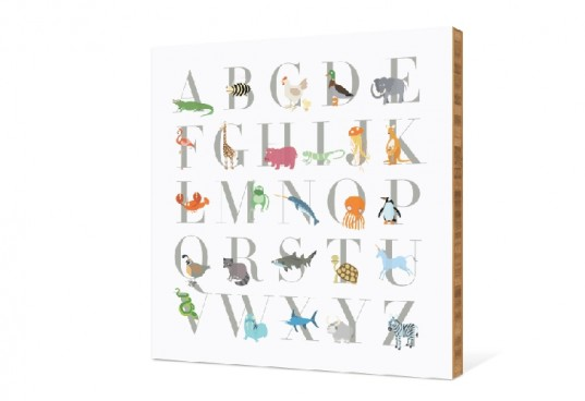 bamboo wall art, wall art, alphabet animals, alphabet wall art, paper culture