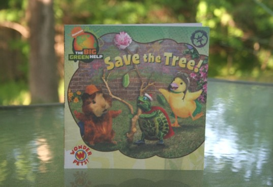 save the tree, wonder pets, earth day books, the big green help, green books