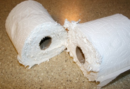cut paper towels, step 1 making own wipes, make your own wipes, toxin free paper towels for wipes cut