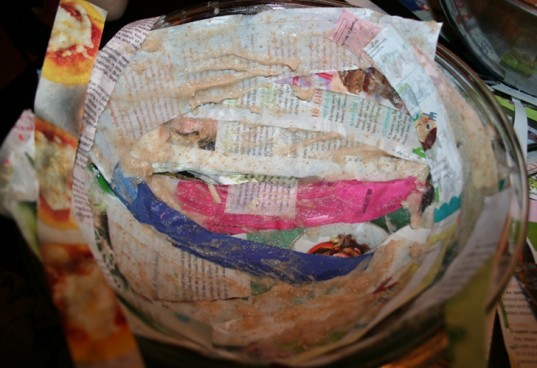diy paper bowl, recycled paper craft, recycled paper bowl, how to make a paper bowl