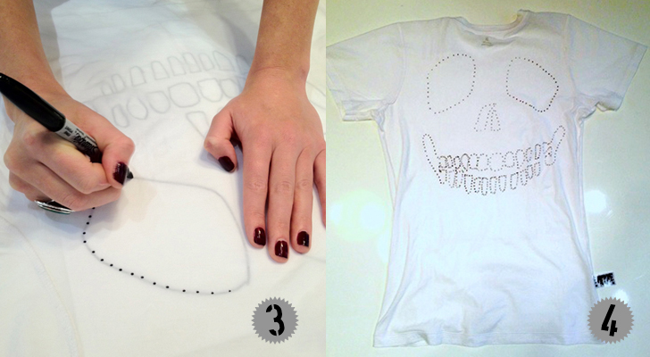 HOW TO: Make a DIY Cut-out Skull T-Shirt for Kids Hurley ...