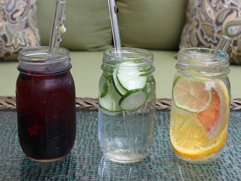 How to make fruit infused water coolers in mason jars for How to make flavored martinis