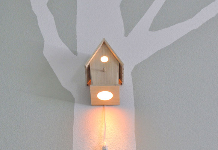 Beautiful birdhouse nightlight | Inhabitots IY03