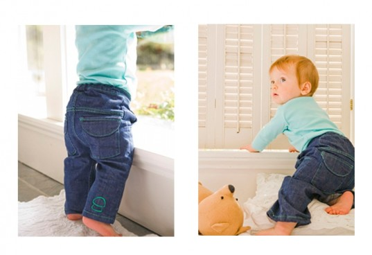 organic jeans, green gamboni, baby jeans, coccora,