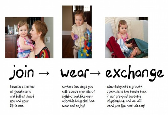 good karma, clothing, baby clothing, baby clothing service, reuse baby clothes