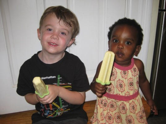 kid-friendly recipe, fresh fruit popsicle, green kids, healthy popsicles