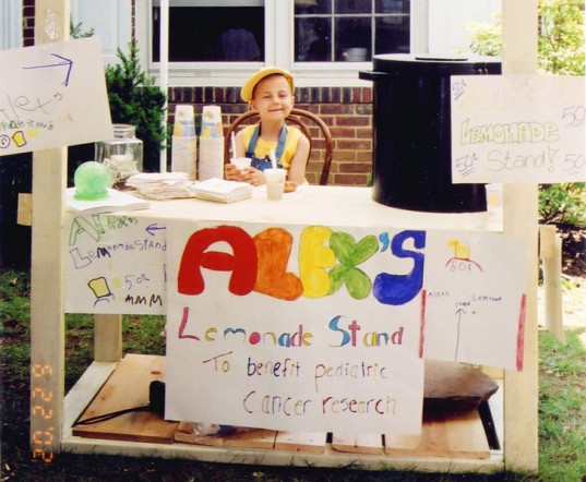 Alex Scott, Alex's lemonade stand, Alex Scott lemonade stand, lemonade stand to help cure childhood cancer