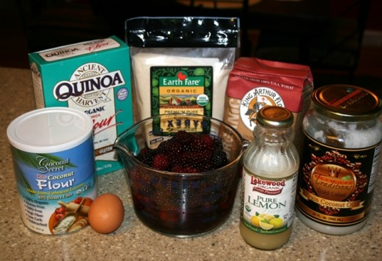 organic ingredients, blackberry cobbler, organic blackberry cobbler, blackberry cobbler ingredients