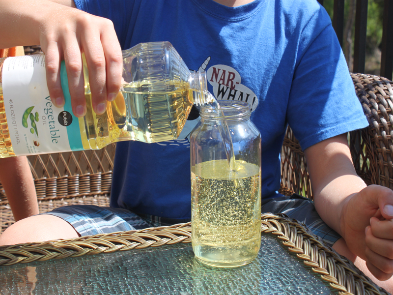 HOW TO Make A Recycled Lava Lamp With Your Kids