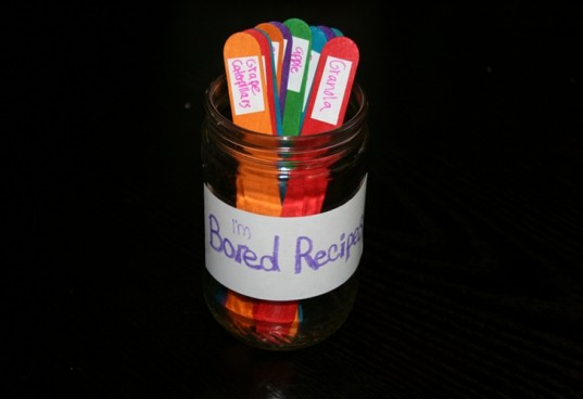 bored jar, boredom fun, recipe boredom jar