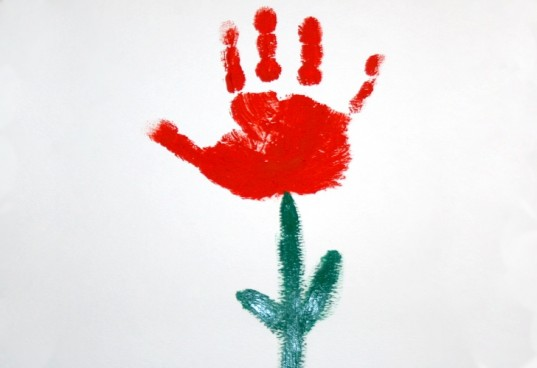 handprint art, flower, handprint flower