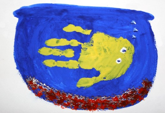 handprint art, fish aquarium, handprint fish