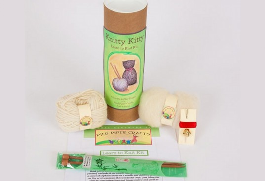 knitty kitty, the original tree swing, knit a cat