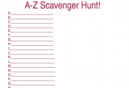 scavenger hunt, abc scavenger hunt, boredom ideas
