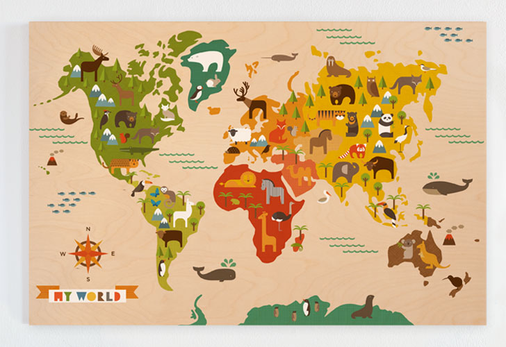 Petit collage inhabitots petit collage my world jumbo wood panel is smart art for the playroom gumiabroncs Choice Image