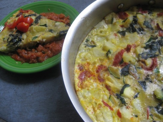 baked veggie frittata, kitchen sink frittata, healthy egg dish, healthy recipe
