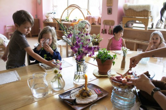 Kids Sharing a Meal in a Waldorf Classroom, Waldorf education, steiner education, waldorf school, steiner school, rudolf steiner education, kids baking
