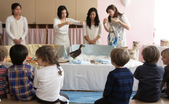 Waldorf Classroom Puppet Show, Shingebis the duck, Waldorf education, steiner education, waldorf school, steiner school, rudolf steiner education, kids baking