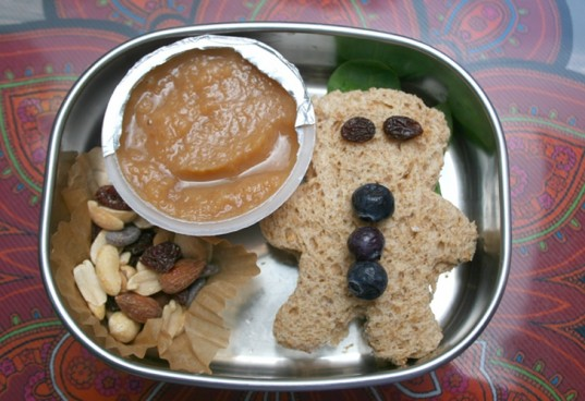 bento box, back to school lunch, bear sandwich