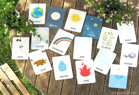 Earth flascards, mr.printables.com, flashcards