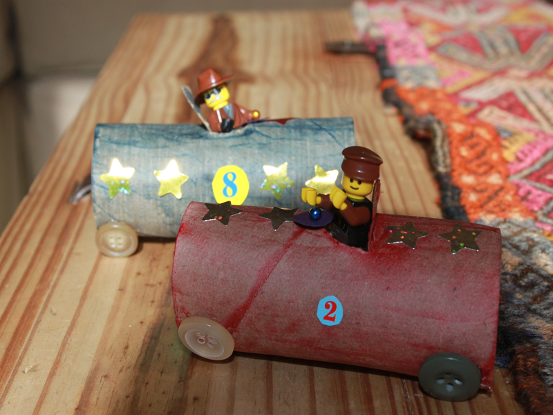 How To Make Recycled Toilet Paper Roll Race Cars Inhabitots