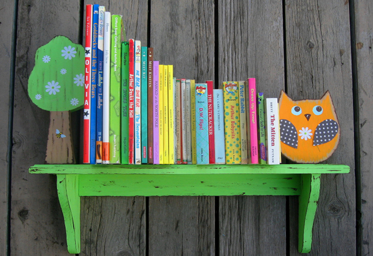 Birch Tree Kids Bookshelves Feature Sweet Woodland Creatures In