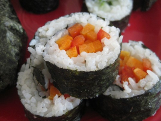 sushi, veggie sushi, vegetarian lunch, back to school lunch