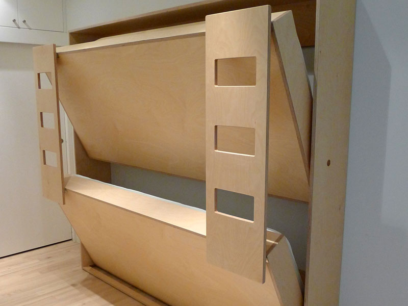 Casa Kids Furniture Double Murphy Bed | Inhabitots