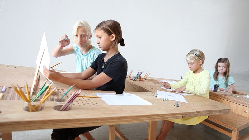 'Growth Table' Is A Community Drawing Table Designed To Accommodate The Whole Family