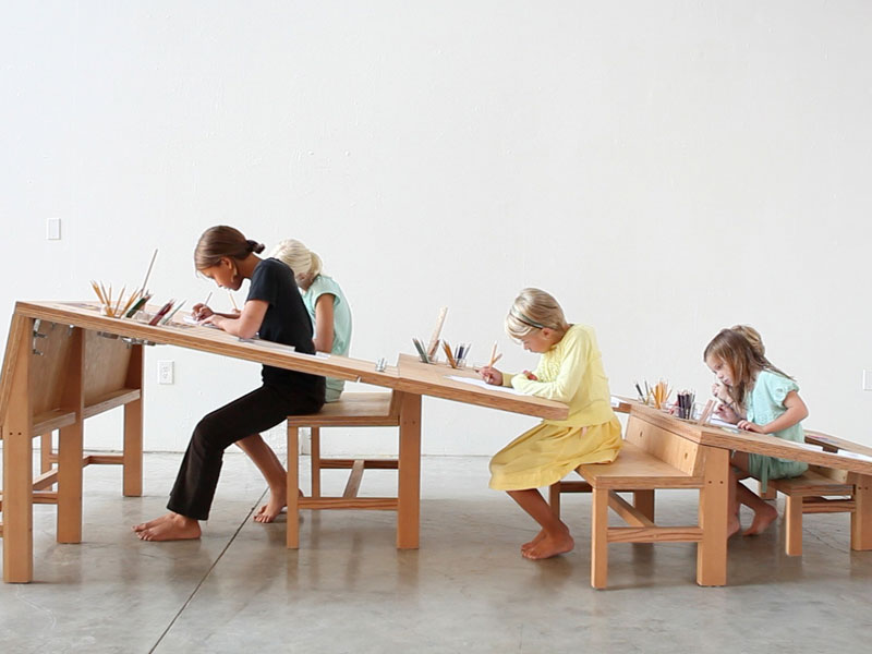 Thereu0027s An Abundance Of Tables Designed To Accommodate Family Dinners, And  A Wide Range Of Small Art Desks For Kids, But Growth Table By Designers Tim  ...