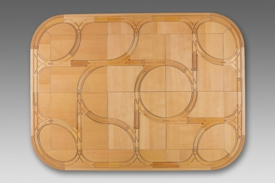 TrackTiles, dinner table, furniture, family dinner, food, play