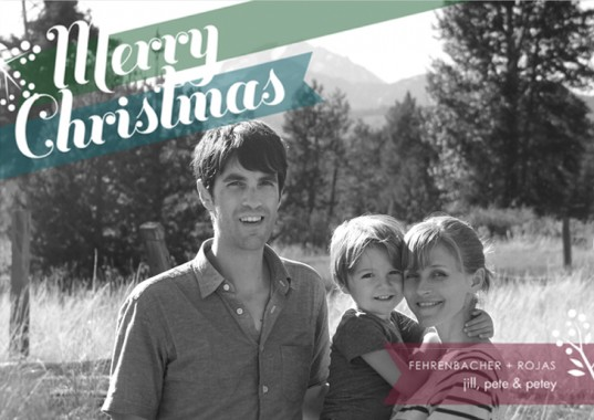 Modern Greetings, Jill Family Christmas Card