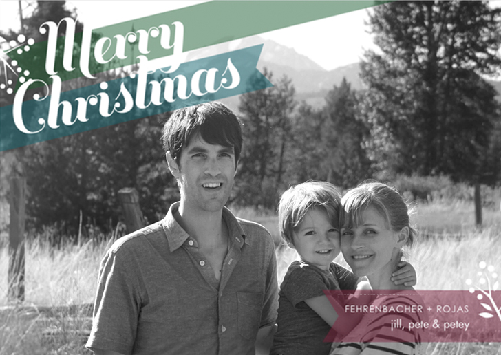 get your custom family photo holiday cards started with modern